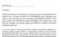 003 Unusual Letter Of Recommendation Template Word Example  General Free Doc