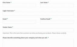 003 Unusual New User Setup Form Template Design  Customer Word Account Vendor Excel