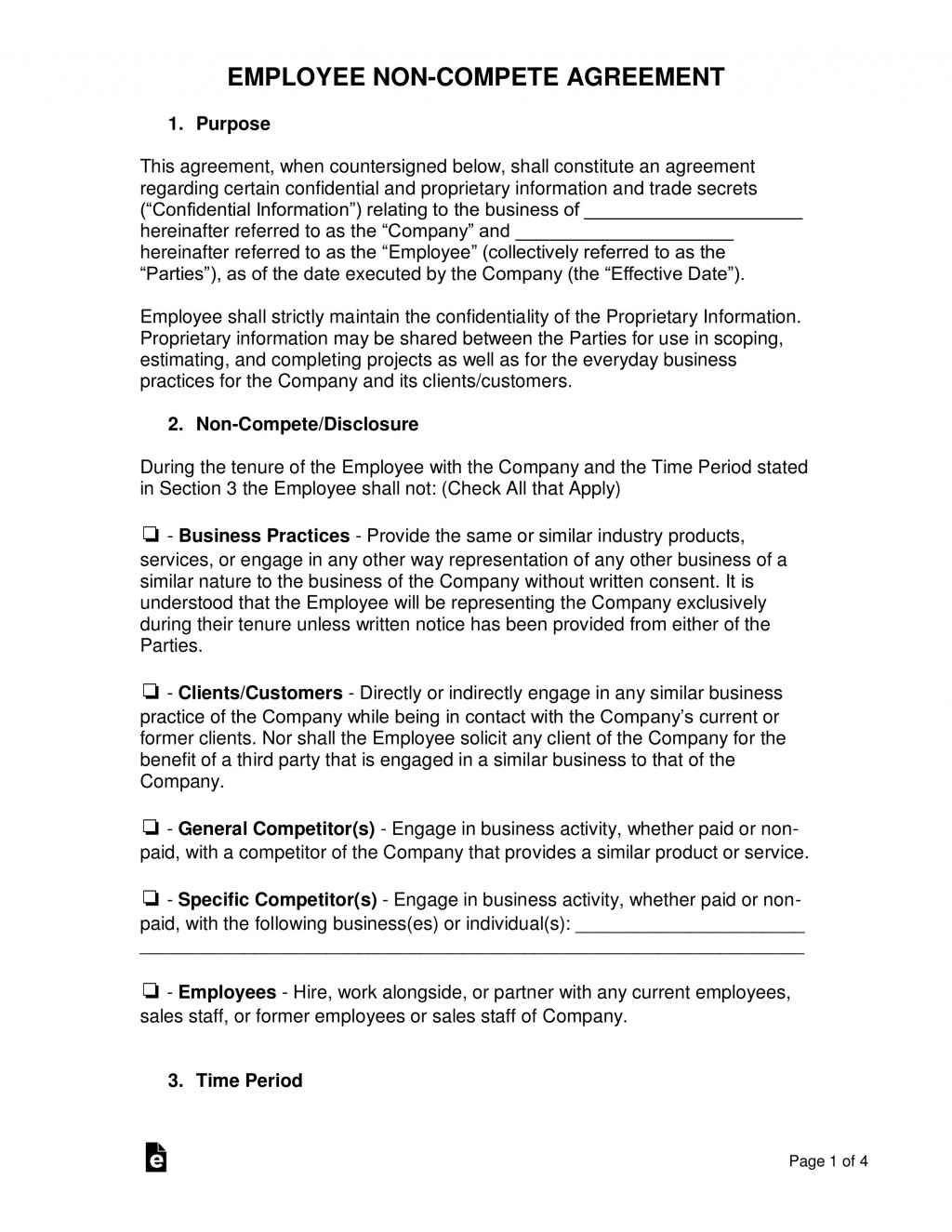 003 Unusual Non Compete Agreement Template Word Highest Clarity  Microsoft Non-compete FreeLarge