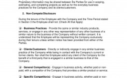 003 Unusual Non Compete Agreement Template Word Highest Clarity  Microsoft Non-compete Free