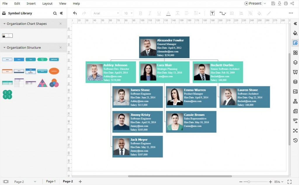003 Unusual Organizational Chart Template Excel Sample  Free 2010Large
