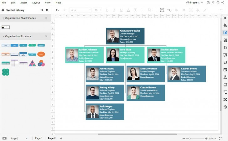 003 Unusual Organizational Chart Template Excel Sample  Free 2010728