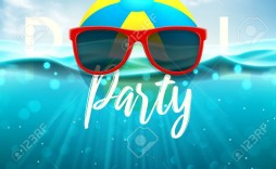 003 Unusual Pool Party Flyer Template Free High Definition  Photoshop Psd