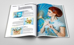 003 Unusual School Magazine Layout Template Free Download Image