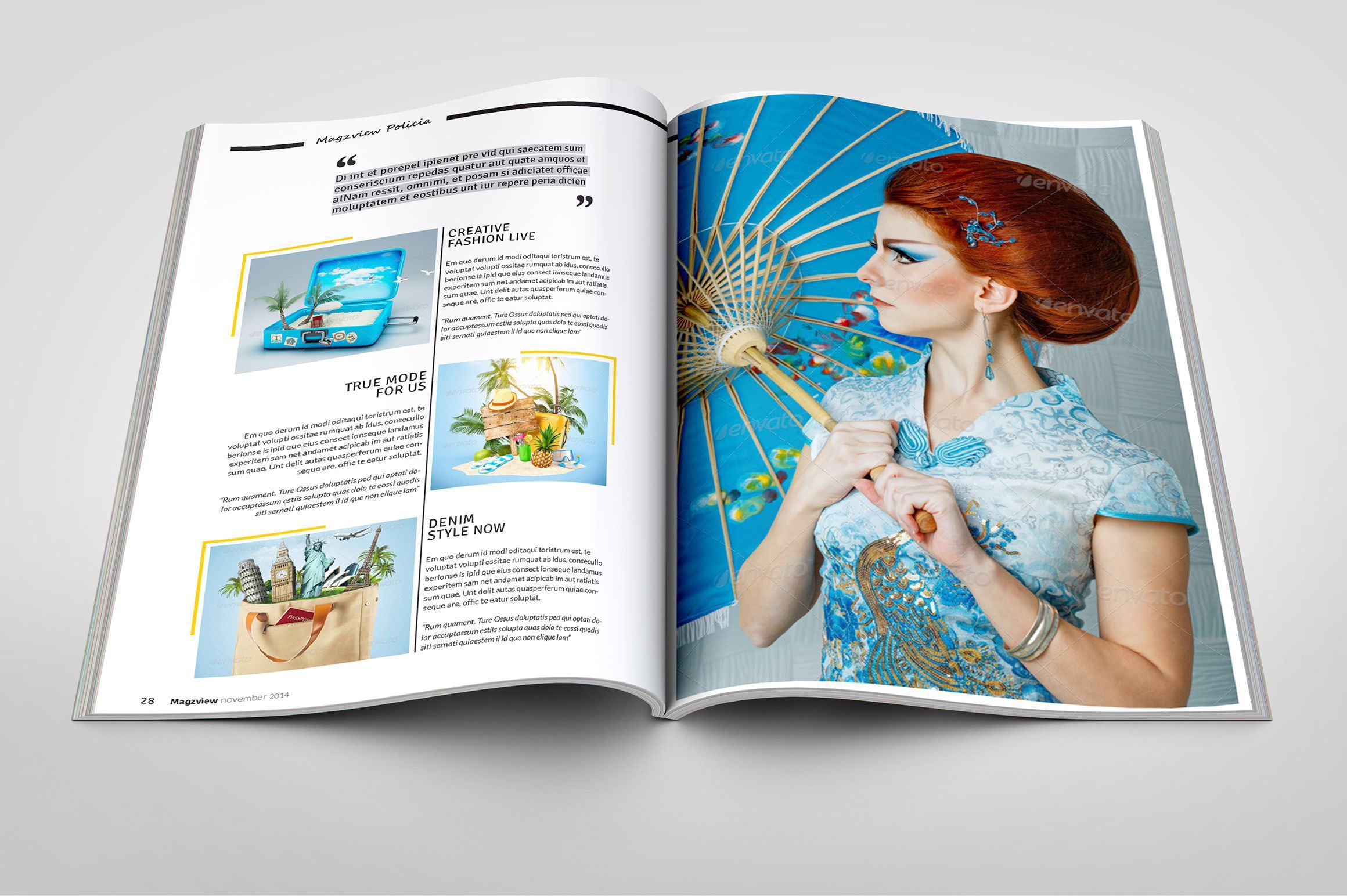 003 Unusual School Magazine Layout Template Free Download Image Full
