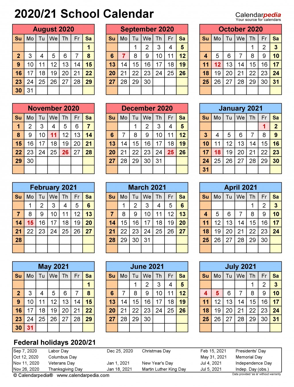 003 Unusual School Year Calendar Template High Definition  Excel 2019-20 WordLarge