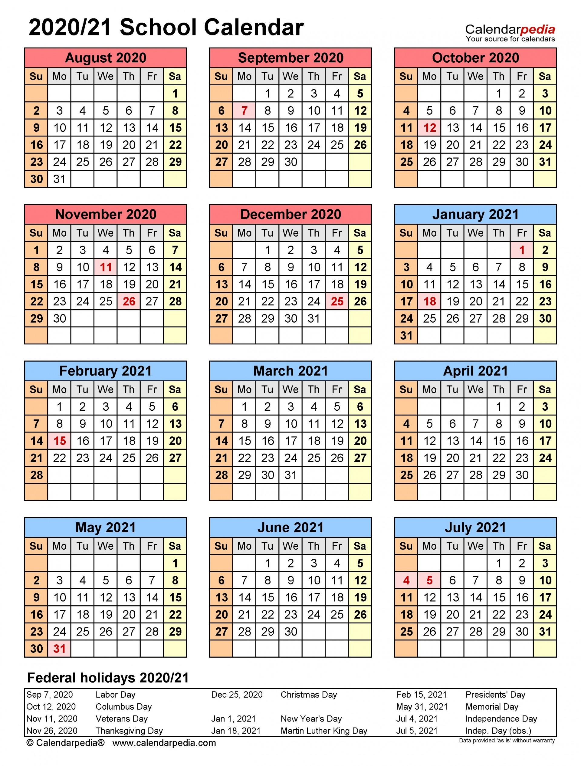 003 Unusual School Year Calendar Template High Definition  Excel 2019-20 Word1920