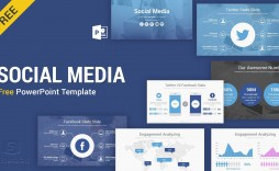 003 Unusual Social Media Powerpoint Template Free Highest Quality  Strategy Trend 2017 - Report