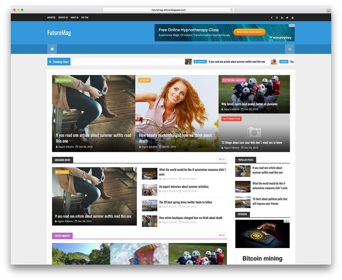 003 Wonderful Best Free Responsive Blogger Template Download Concept Full