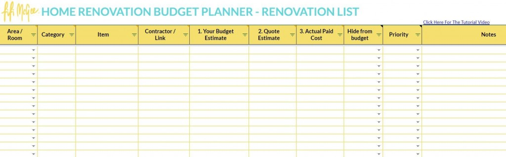 003 Wonderful Best Home Renovation Budget Template Excel Free Photo Large
