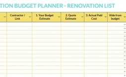 003 Wonderful Best Home Renovation Budget Template Excel Free Photo