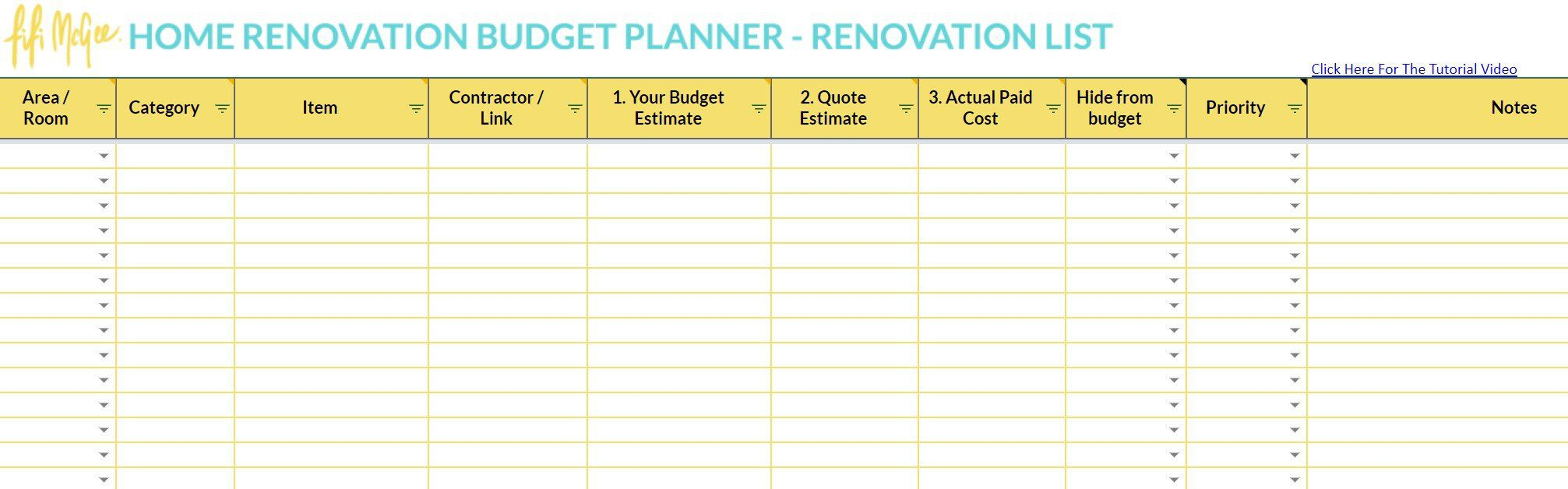 003 Wonderful Best Home Renovation Budget Template Excel Free Photo Full