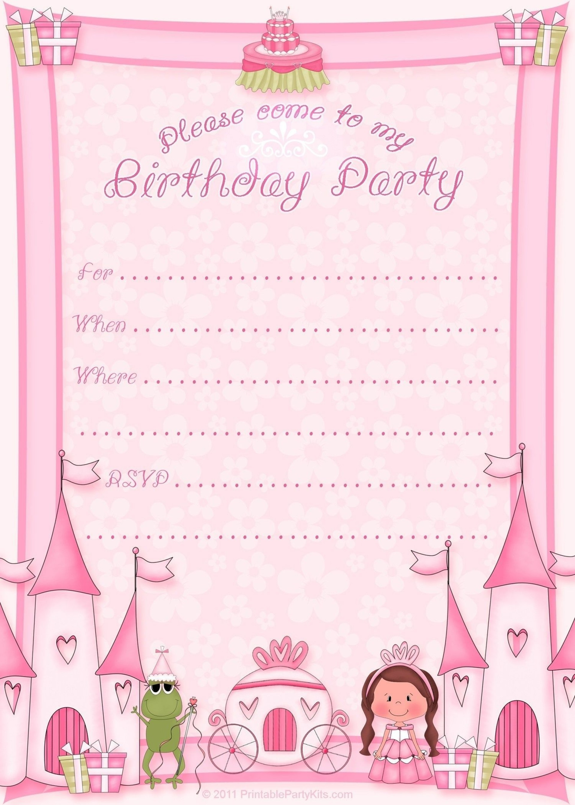003 Wonderful Birthday Invitation Template Free Download Inspiration  Editable Video Twin First Downloadable 18th Printable1920