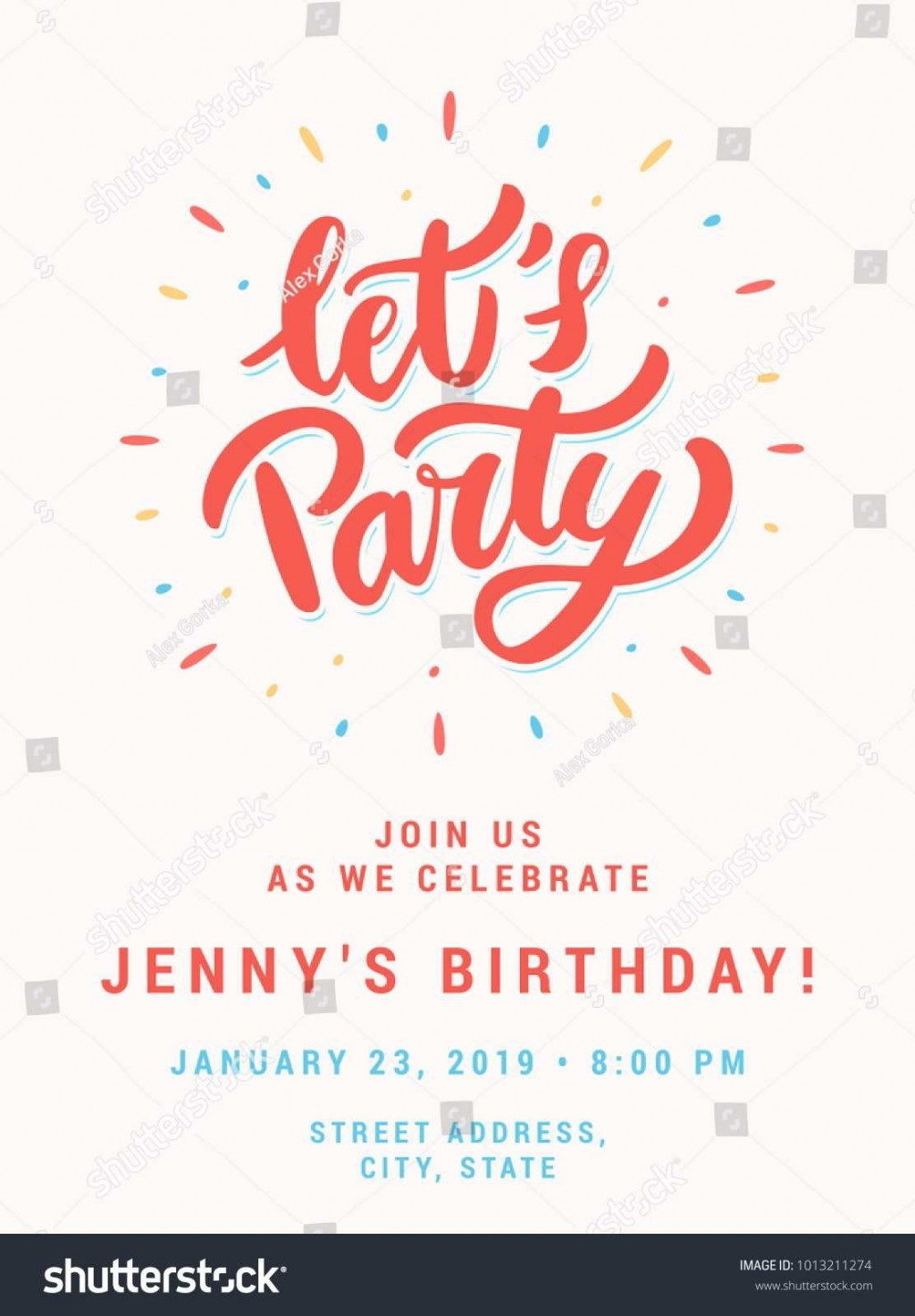 003 Wonderful Birthday Party Invitation Template Word Free Example  Download InviteLarge