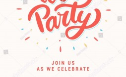 003 Wonderful Birthday Party Invitation Template Word Free Example  Download Invite