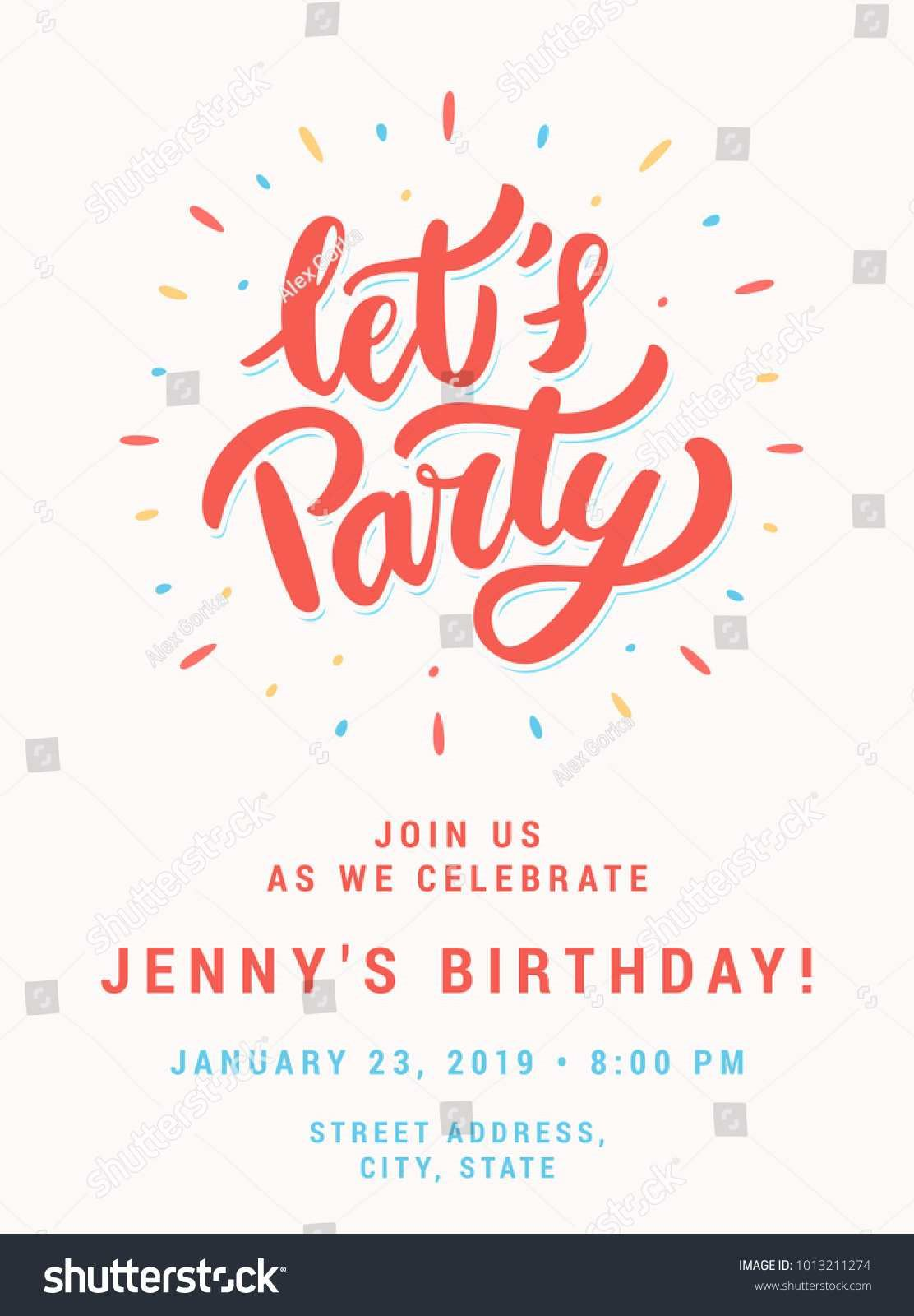 003 Wonderful Birthday Party Invitation Template Word Free Example  Download InviteFull