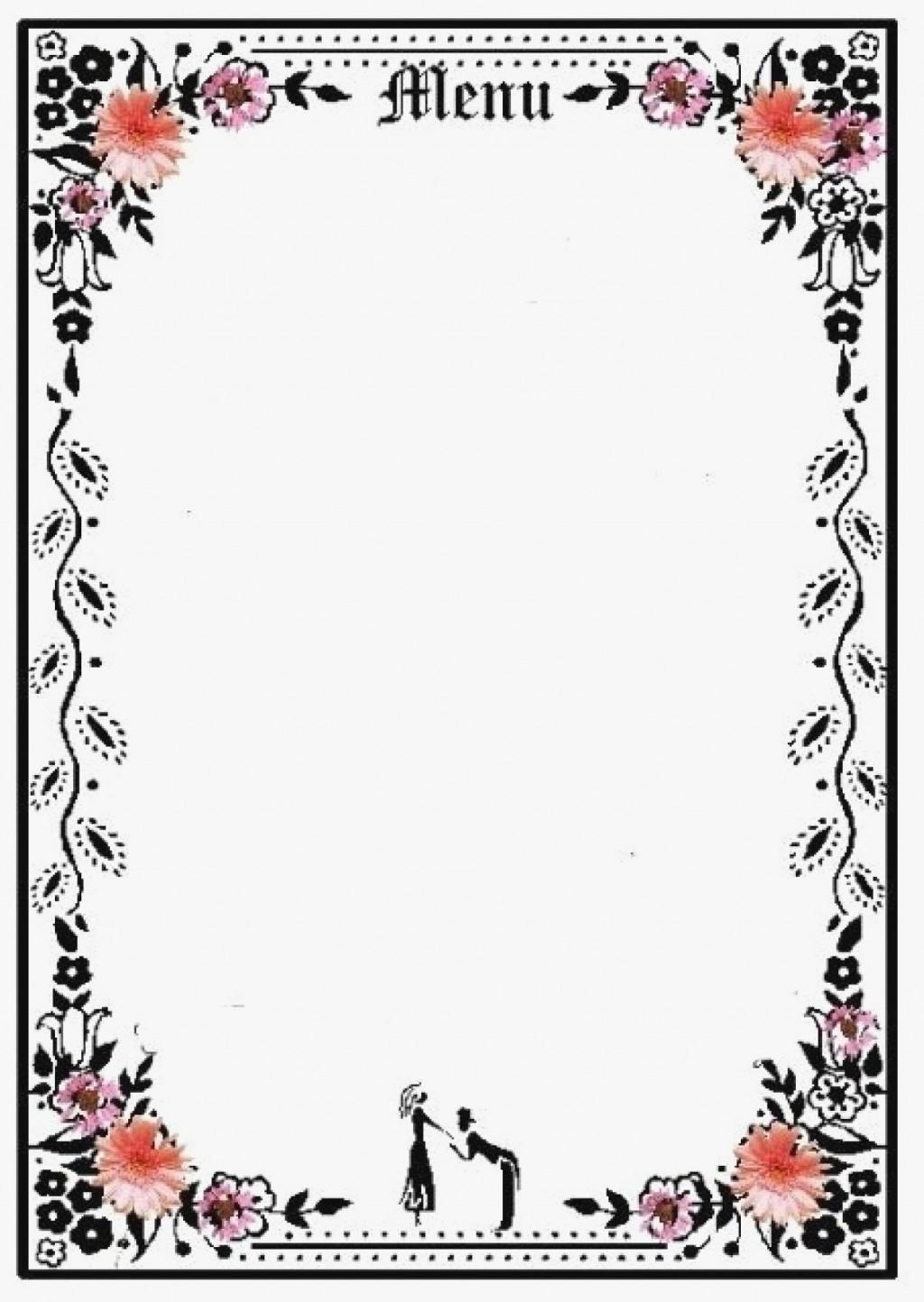003 Wonderful Blank Restaurant Menu Template Example  Free Printable DownloadableLarge