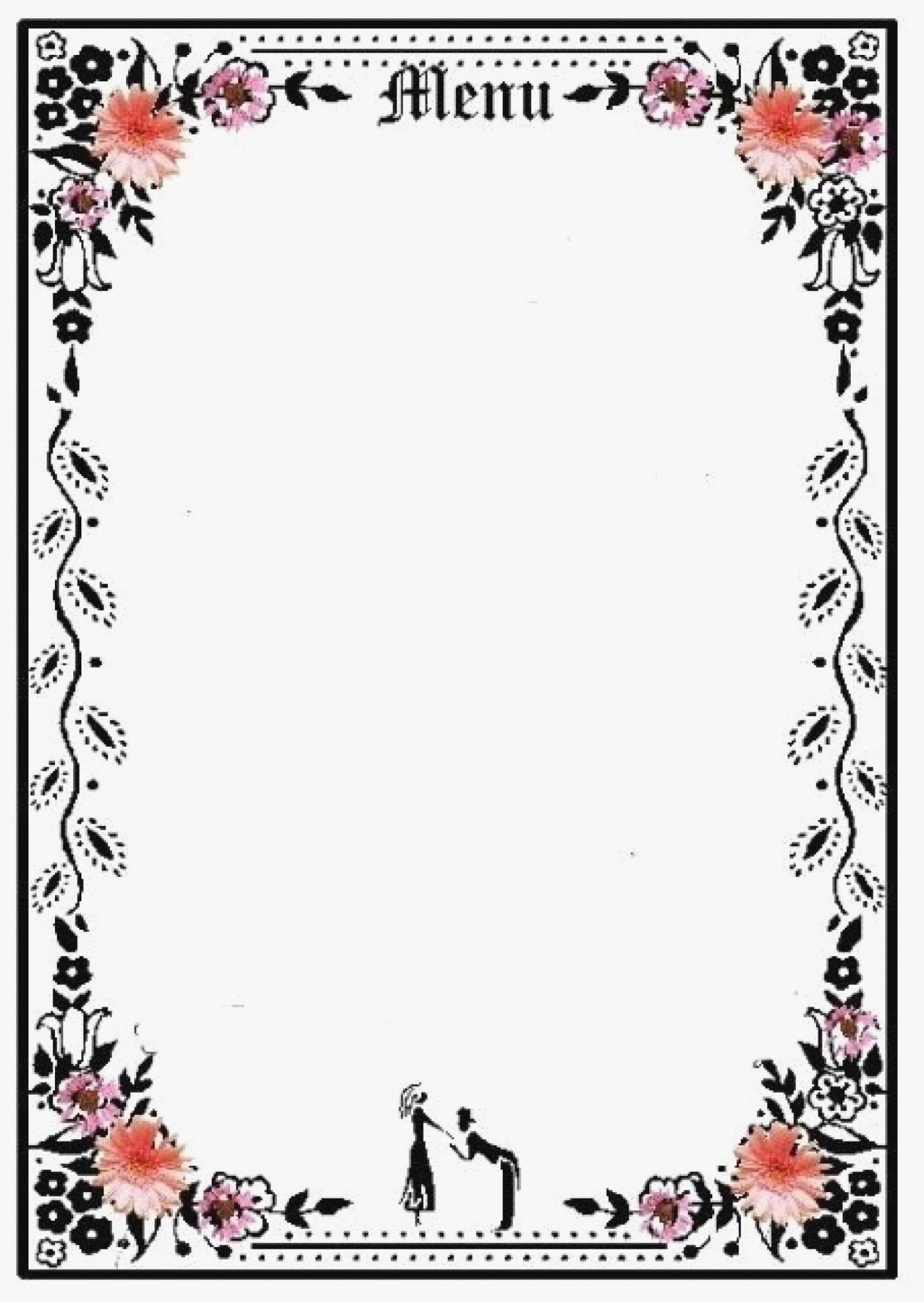 003 Wonderful Blank Restaurant Menu Template Example  Free Printable Downloadable1920