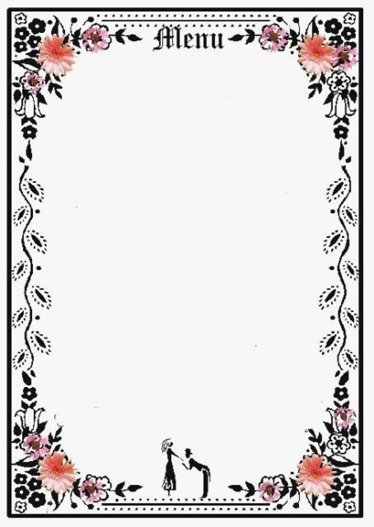 003 Wonderful Blank Restaurant Menu Template Example  Free Printable DownloadableFull