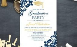 003 Wonderful College Graduation Party Invitation Template Design  Templates