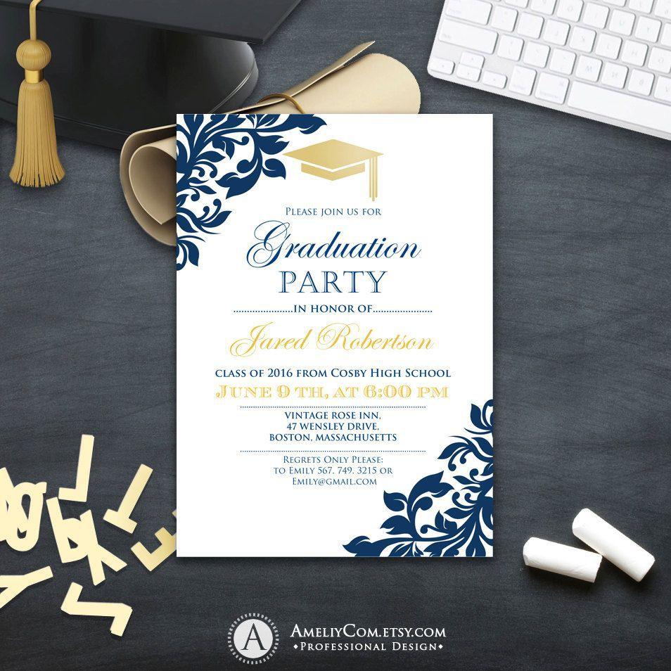 003 Wonderful College Graduation Party Invitation Template Design  TemplatesFull