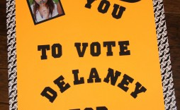 003 Wonderful Free Student Council Campaign Poster Template High Def