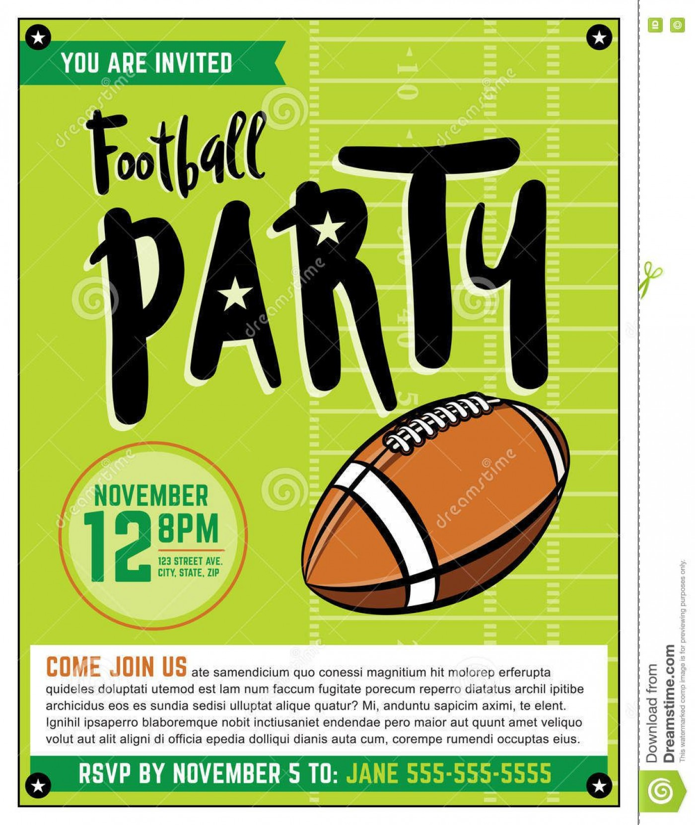 003 Wonderful Free Tailgate Party Flyer Template Download Photo 1400