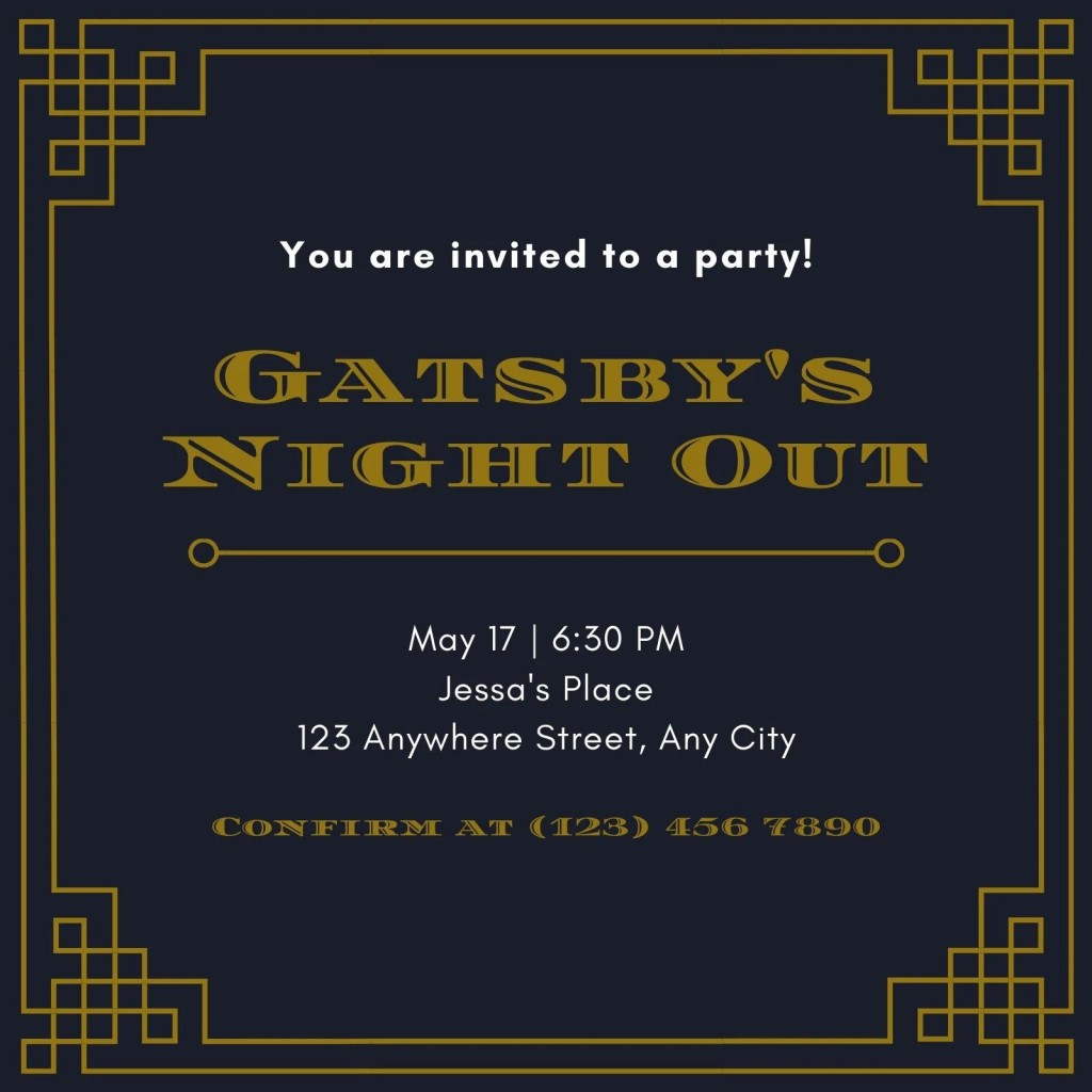 003 Wonderful Great Gatsby Invitation Template Image  Templates Free Download BlankLarge