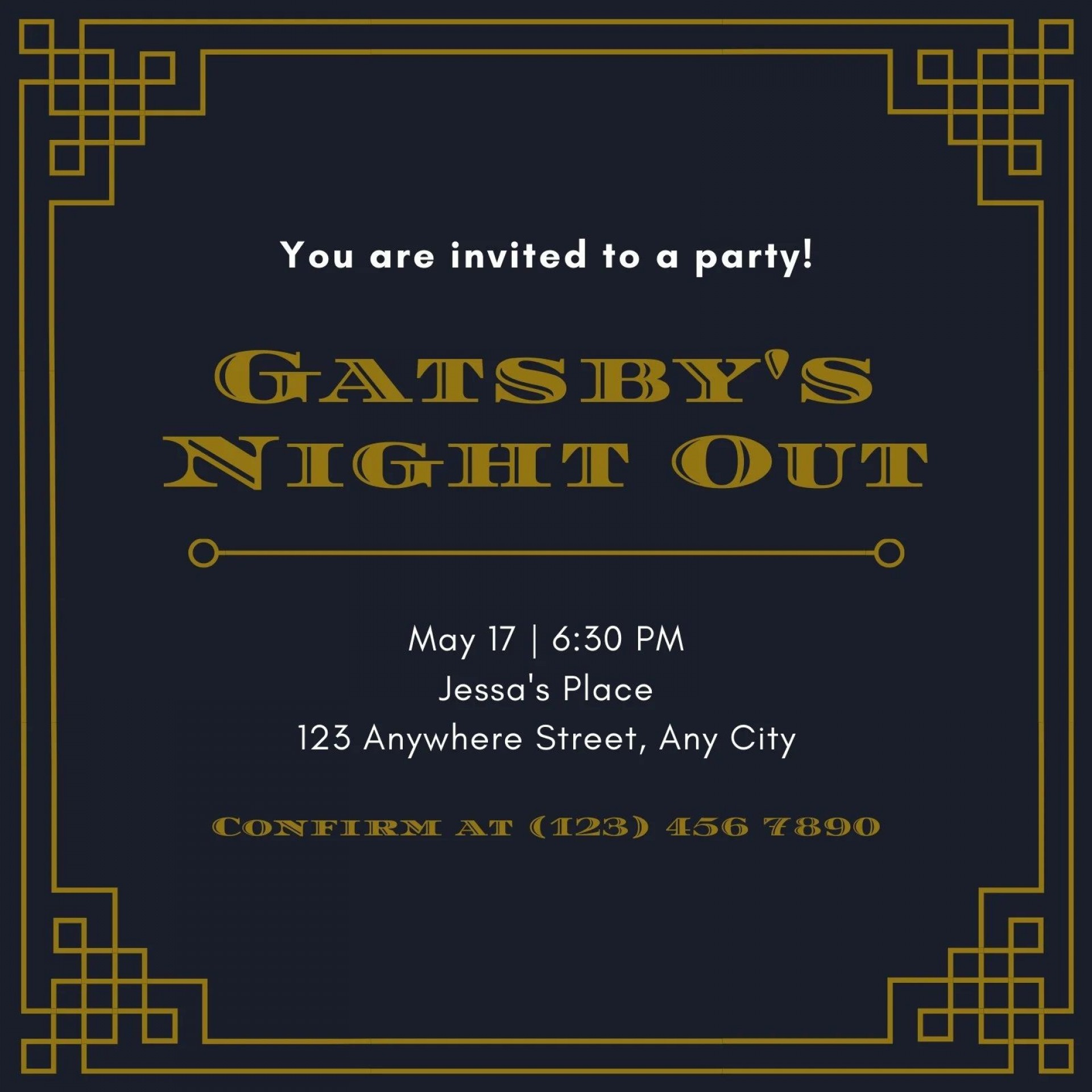 003 Wonderful Great Gatsby Invitation Template Image  Templates Free Download Blank1920