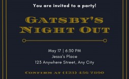 003 Wonderful Great Gatsby Invitation Template Image  Templates Free Download Blank