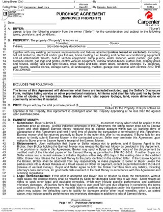 003 Wonderful Home Purchase Agreement Template Michigan Picture 320