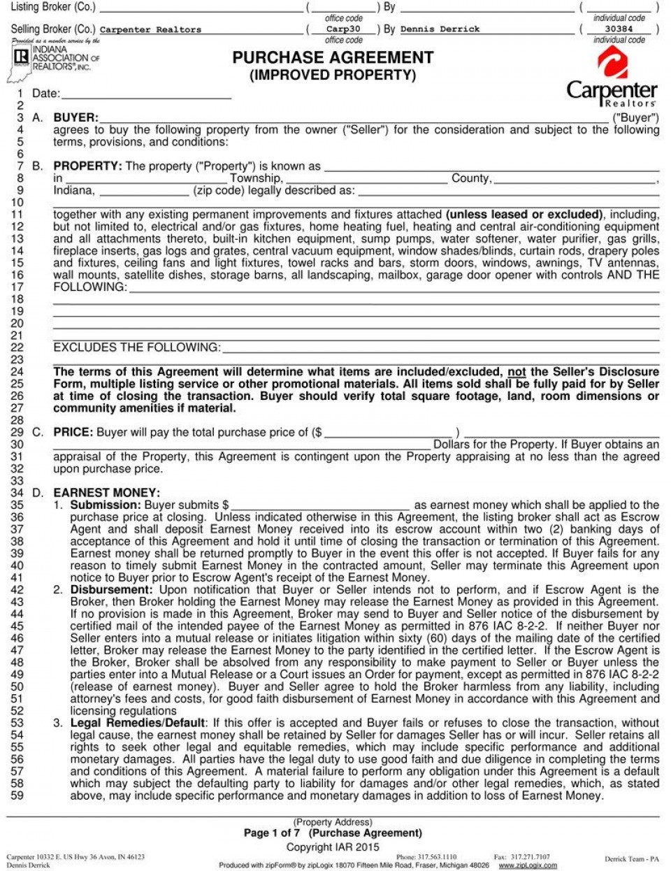 003 Wonderful Home Purchase Agreement Template Michigan Picture 960