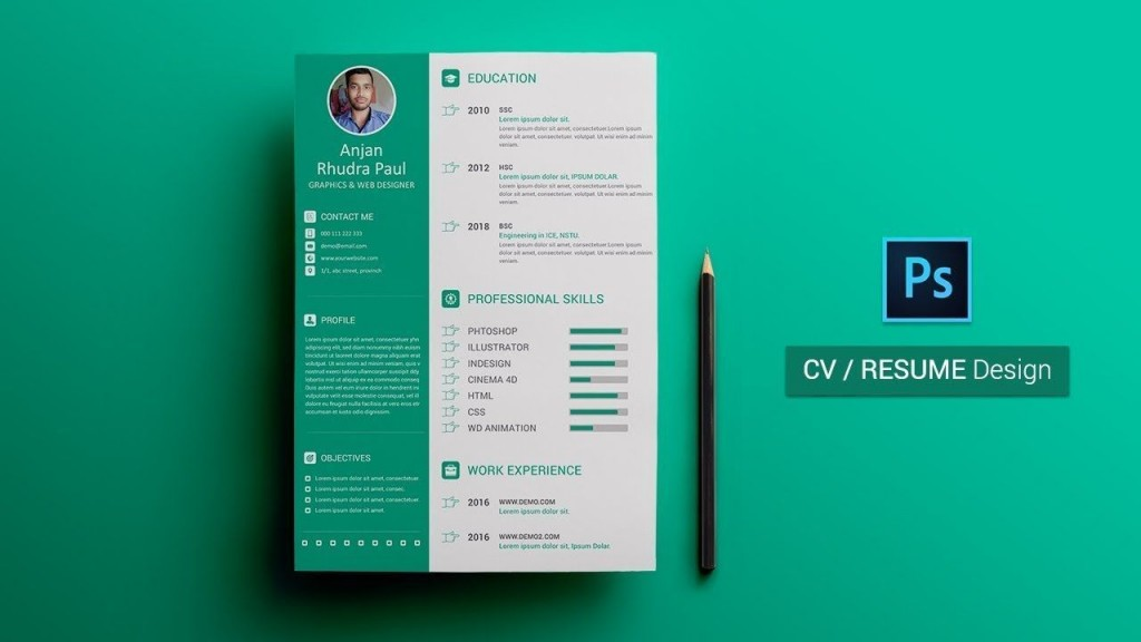 003 Wonderful How To Create A Resume Template In Photoshop Highest Quality Large