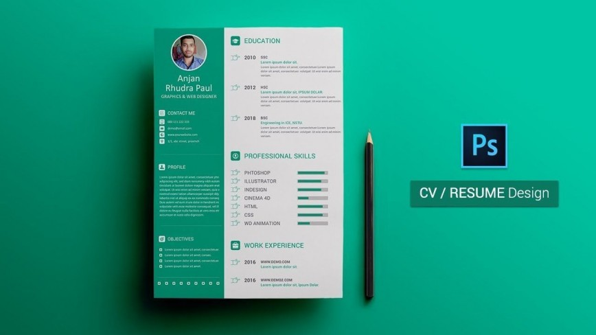 003 Wonderful How To Create A Resume Template In Photoshop Highest Quality 868