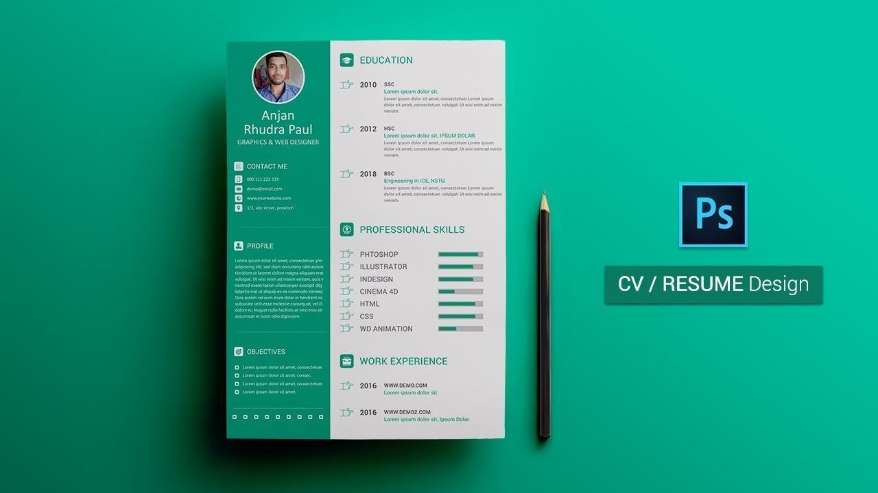 003 Wonderful How To Create A Resume Template In Photoshop Highest Quality Full