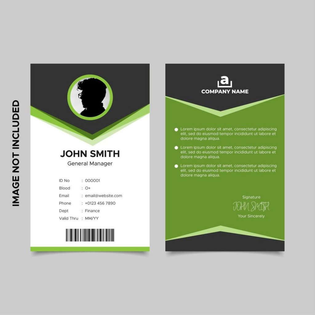 003 Wonderful Id Card Template Free Highest Clarity  Download Pdf DesignLarge