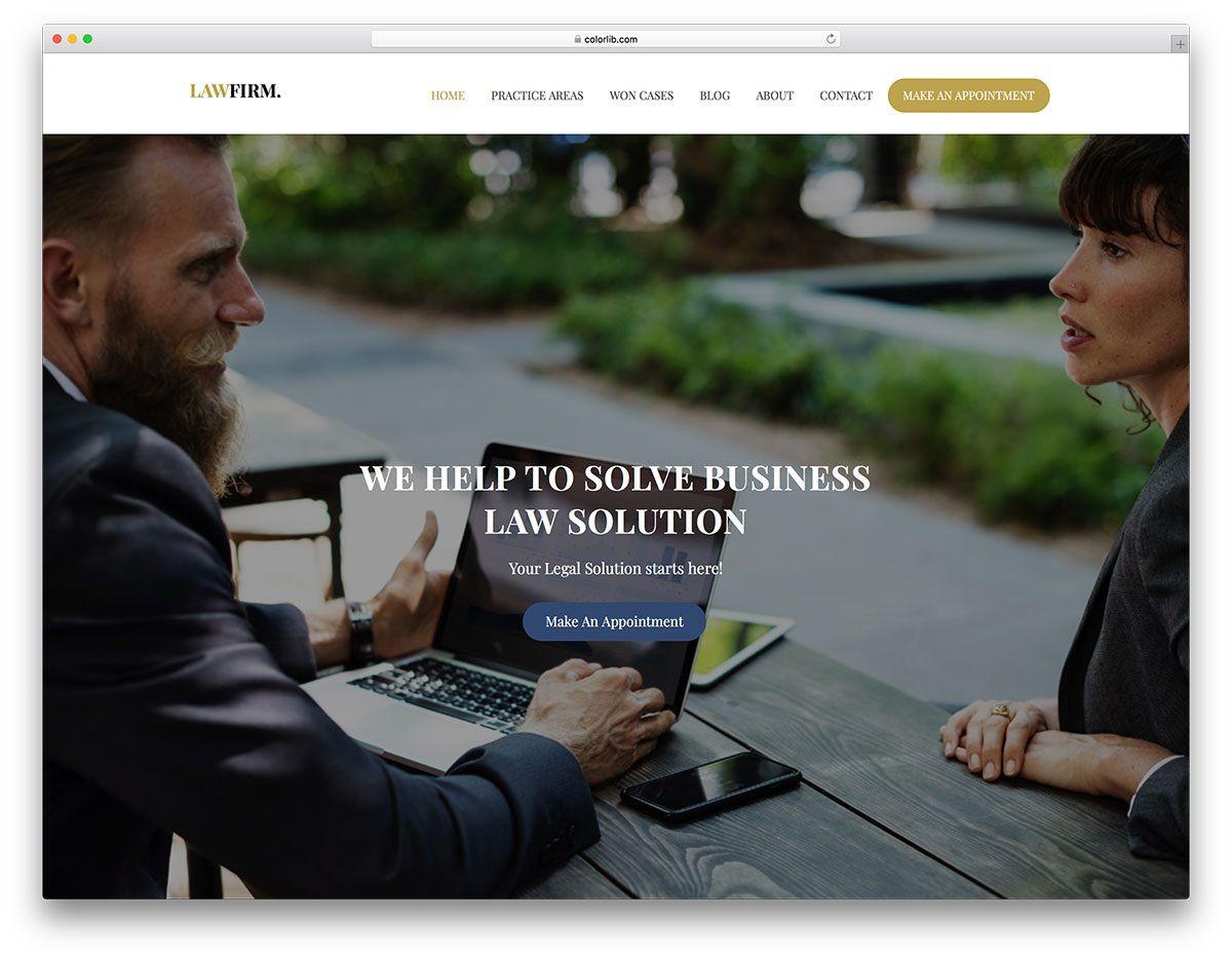 003 Wonderful Law Firm Website Template Free High Def  WordpresFull