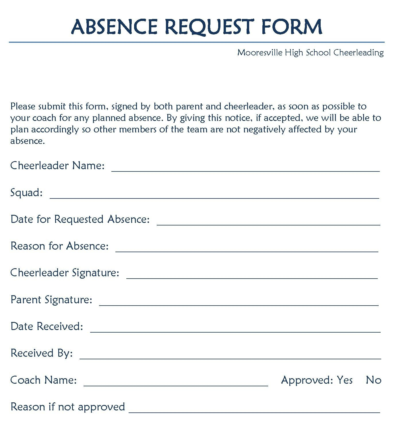 Leave Of Absence Form Template Addictionary