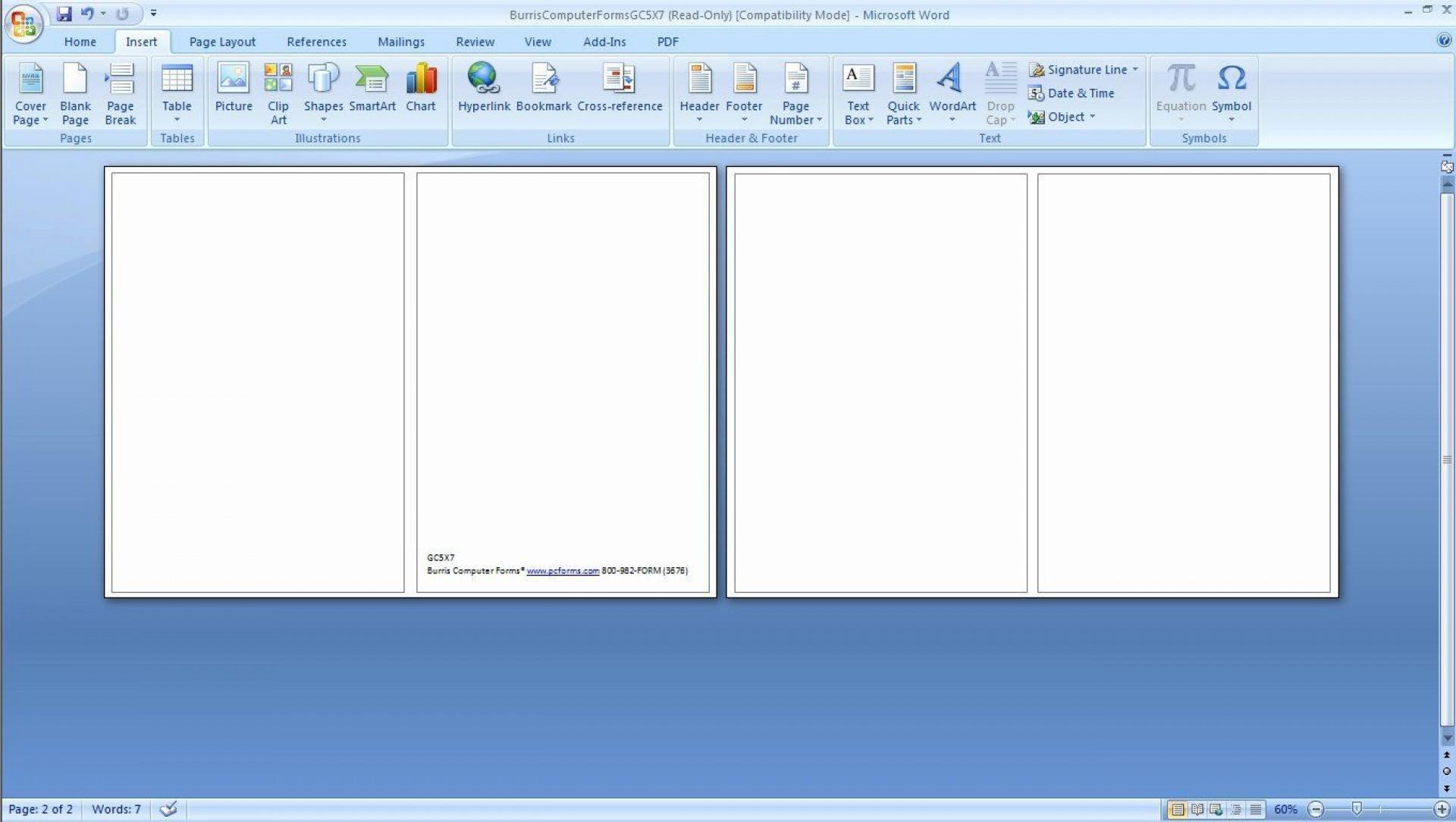 003 Wonderful Microsoft Word Greeting Card Template Concept  Birthday Blank Free 20071920
