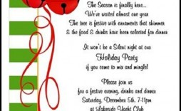 003 Wonderful Office Christma Party Invitation Wording Sample  Samples Holiday Example