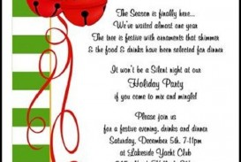 003 Wonderful Office Christma Party Invitation Wording Sample  Holiday Example