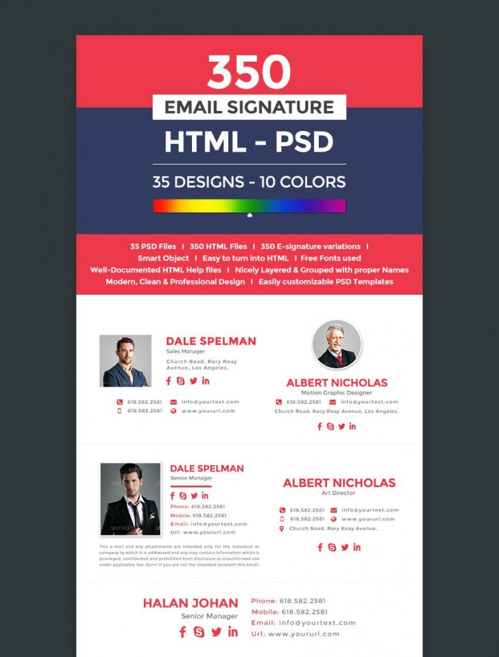 003 Wonderful Professional Email Signature Template Image  Busines Download728