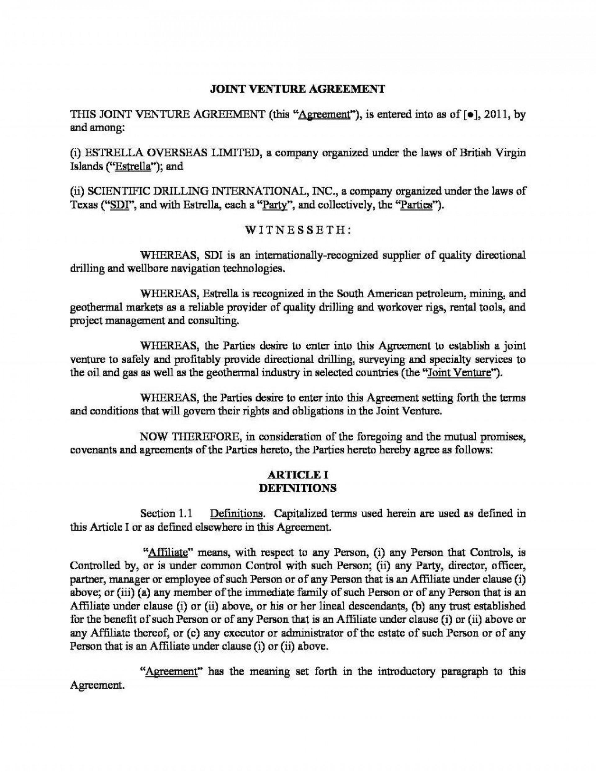 003 Wonderful Property Development Joint Venture Agreement Template Uk Highest Quality 1920