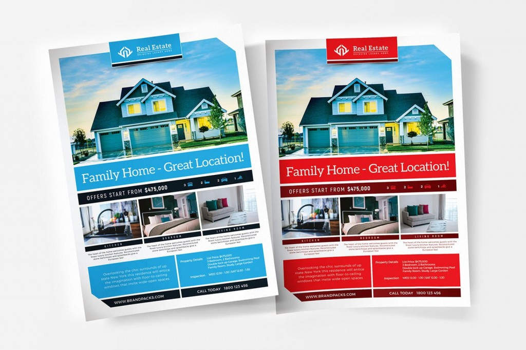 003 Wonderful Real Estate Flyer Template Free Inspiration  Publisher Commercial Pdf DownloadLarge