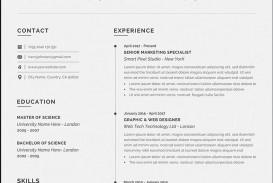003 Wonderful Resume Microsoft Word Template Image  Cv/resume Design Tutorial With Federal Download