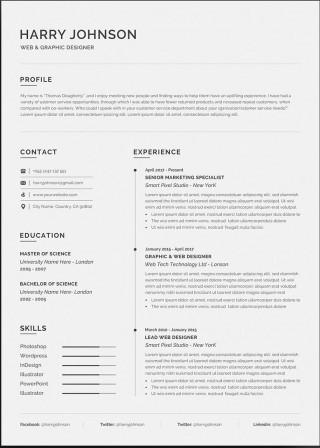 003 Wonderful Resume Microsoft Word Template Image  Cv/resume Design Tutorial With Federal Download320