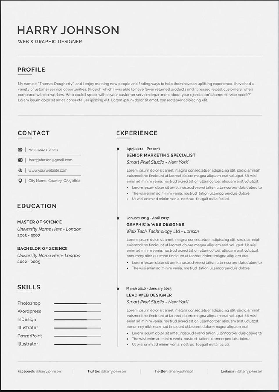003 Wonderful Resume Microsoft Word Template Image  Cv/resume Design Tutorial With Federal Download960