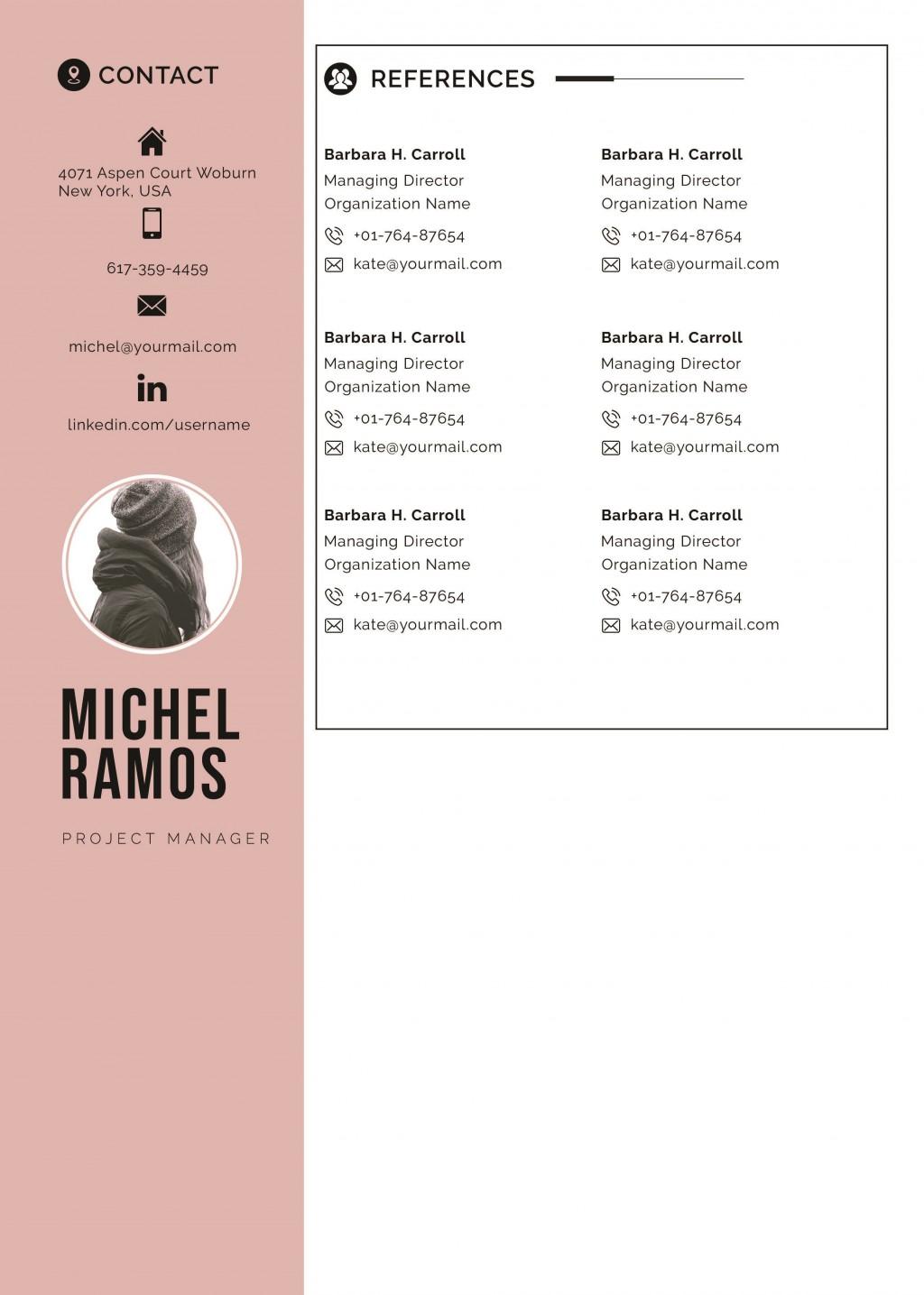 003 Wonderful Resume Reference Template Microsoft Word High Resolution  ListLarge