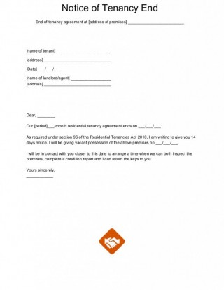 003 Wonderful Template For Terminating A Lease Agreement High Definition  Rental Sample Letter320