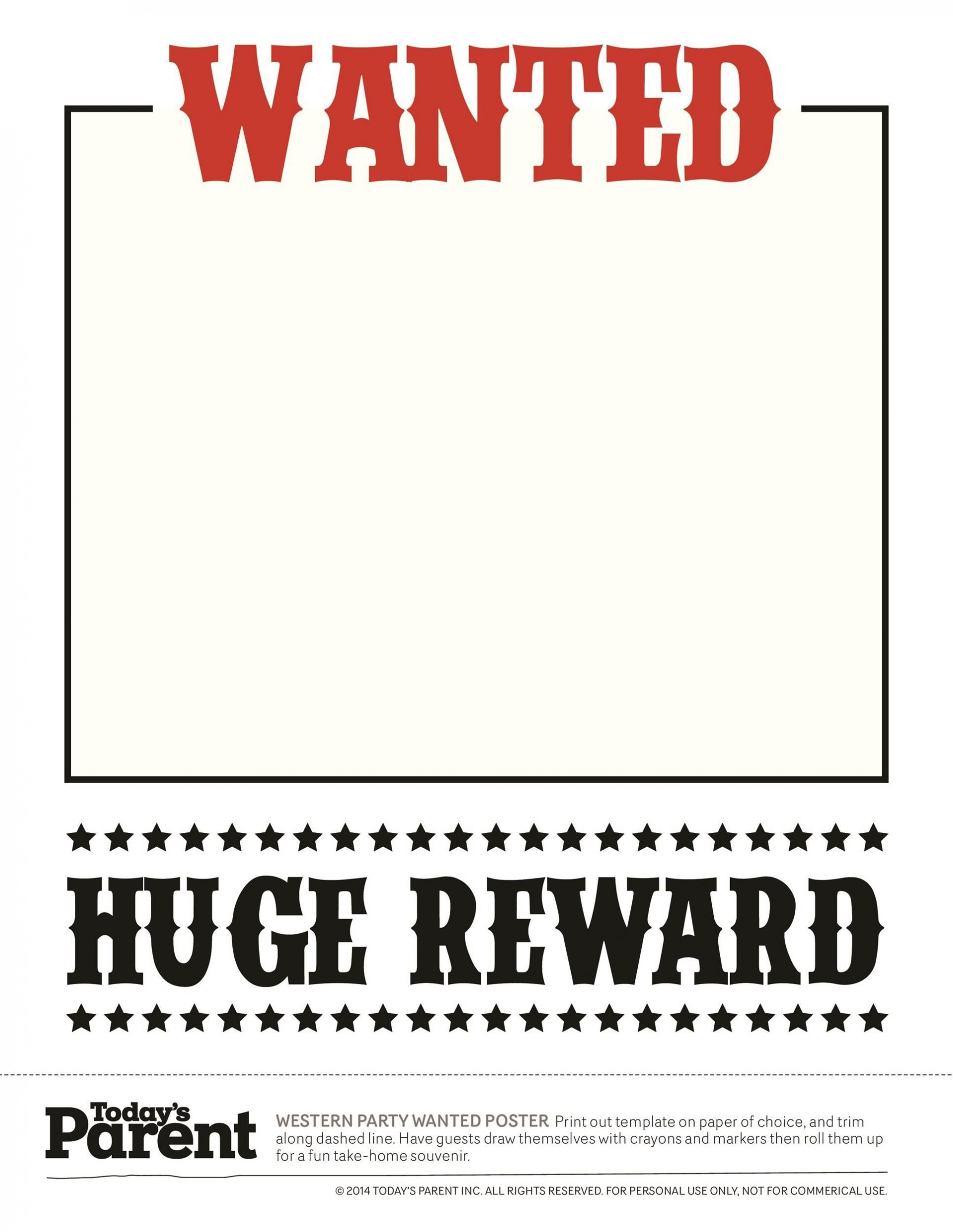 003 Wonderful Wanted Poster Template Microsoft Word Image  Western Most1920